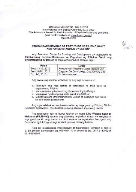 al?b a  Talakayin ang mga issues at karanasan ng mga guro sa