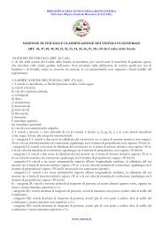 NOZIONE DI VEICOLO E SUA CLASSIFICAZIONE Art. 46e ... - caesm