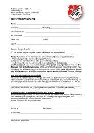 Beitrittserklärung ab Mai 2013 - Portal des TuS Bad Essen