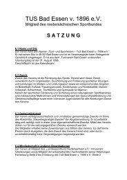 TUS Bad Essen Satzung - Portal des TuS Bad Essen
