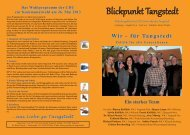 Blickpunkt - CDU Tangstedt