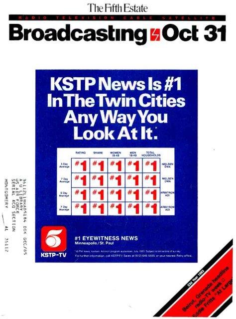 Broadcasting Oct 31 - American Radio History