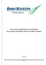 MANUAL DE PROCEDIMENTOS OPERACIONAIS - BM&FBovespa