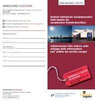 anmeldung/iscrizione einladung/ invito - Eventi - Regione Autonoma ...