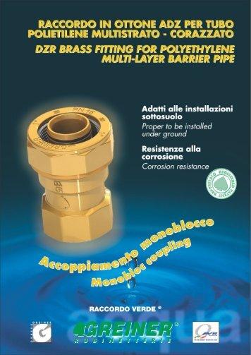 raccordo in ottone adz per tubo polietilene multistrato - Greiner SpA