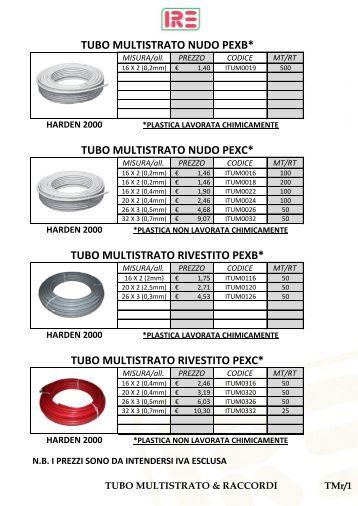 tubo multistrato & raccordi - Irecirocco.it