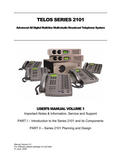 TELOS SYSTEM 2101 - FM Broadcast and Studio Equipment