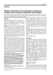 Bleeding complications of oral anticoagulant treatment: an inception ...