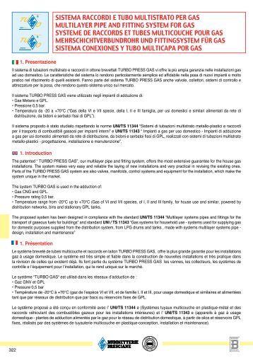 SISTEMA RAccORDI E TUBO MULTISTRATO PER GAS ...