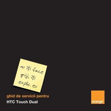 ghid de servicii pentru HTC Touch Dual - Orange