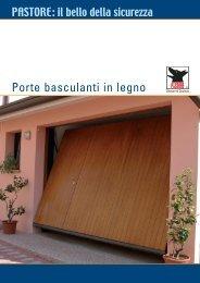 Porte basculanti in legno - Pastore chiusure di sicurezza S.p.A.