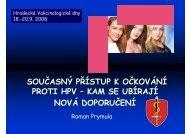 SOUČASNÝ PŘÍSTUP K OČKOVÁNÍ PROTI HPV – KAM SE ...