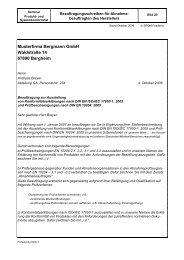 Musterfirma Bergmann GmbH Waldstraße 14 67890 ... - QZ-online.de