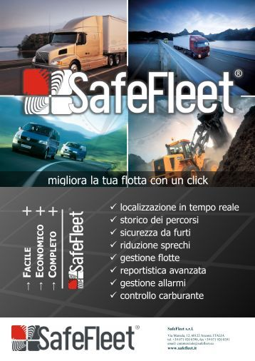 Brochure Webreporter - SafeFleet GPS | Gestione Flotte