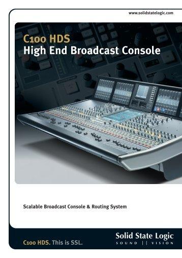 C100 HDS Brochure - Solid State Logic