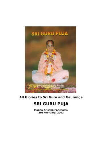 Sri Guru Puja 2002 - Srila Bhakti Vaibhava Puri Maharaja