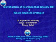 Identification of microbes that detoxify TBT & Waste disposal strategies