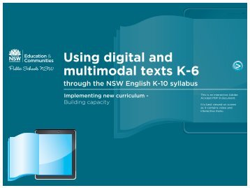 Using digital and multimodal texts K-6 - TaLe