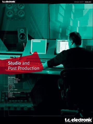 M300 Studio & Post Production Brochure English - TC Electronic