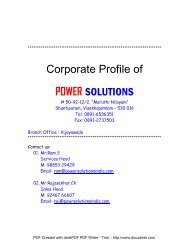 Corporate Profile of POWER SOLUTIONS - Brinkster
