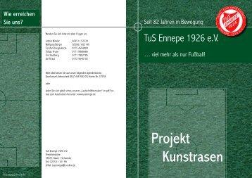 Flyer Kunstrasen - TuS Ennepe 1926