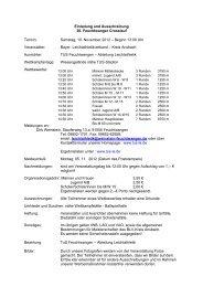 Samstag, 10. November 2012 – Beginn 13:00 Uhr Veranstalter