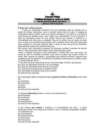 PROFESSOR ENSINO INFANTIL LÍNGUA PORTUGUESA - IMEC