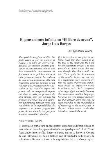 """El pensamiento infinito en """"El libro de arena"""". Jorge Luis Borges"""