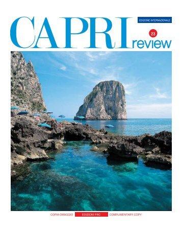 COPIA OMAGGIO COMPLIMENTARY COPY EDIZIONI PRC - Capri