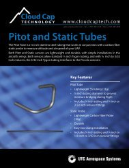 Pitot and Static Tubes front - Cloud Cap Technology