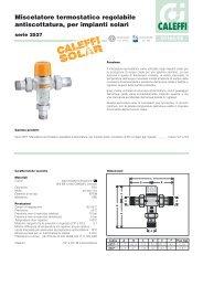 Miscelatore termostatico regolabile antiscottatura, per ... - Caleffi