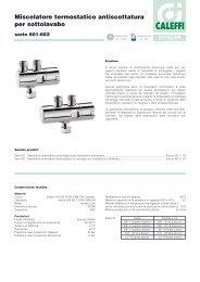 Miscelatore termostatico antiscottatura per sottolavabo - Caleffi