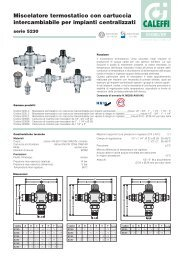 Miscelatore termostatico con cartuccia intercambiabile per ... - Caleffi