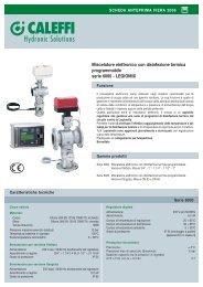 Miscelatore elettronico con disinfezione termica ... - Caleffi