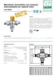 Miscelatore termostatico con cartuccia intercambiabile per impianti ...