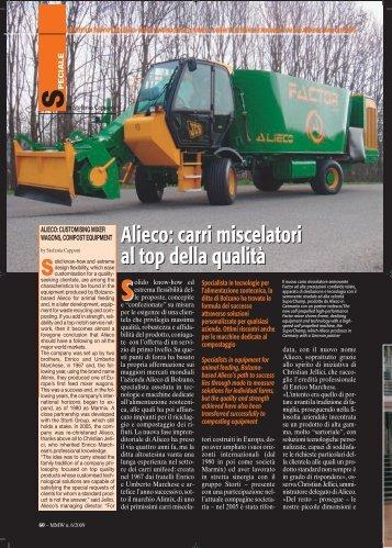 Alieco: carri miscelatori al top della qualità Alieco ... - FederUnacoma