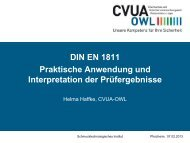 DIN EN 1811-Praktische Anwendung und Hinweise zur ...