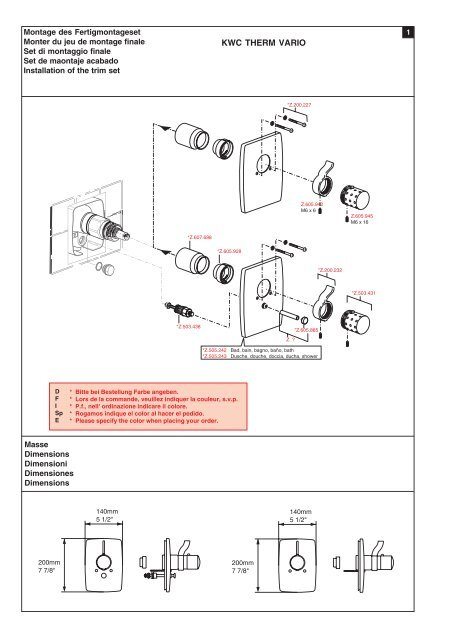 Unterputz-Thermostatmischer Mitigeur thermostatique ... - KWC