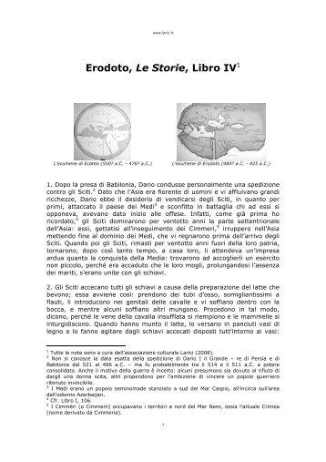 Erodoto, Le Storie, Libro IV - Larici
