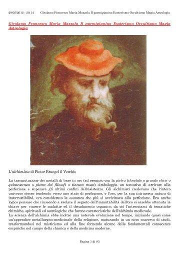 Girolamo Francesco Maria Mazzola Il parmigianino Esoterism…