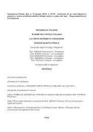 sentenza Cassazione 12.6.2012 n. 23147 - Ordine degli Ingegneri ...