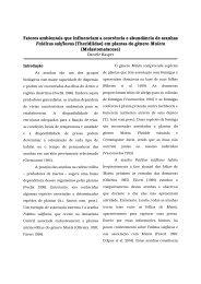 Fatores ambientais que influenciam a ocorrência e ... - PDBFF - Inpa