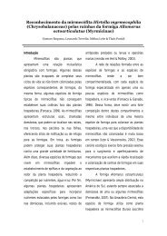 Reconhecimento da mirmecófita Hirtella myrmecophila ... - PDBFF