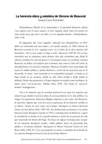 La herencia ética y estética de Simone de Beauvoir