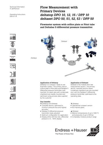 Averaging Pitot Tube Specification Guide Emerson Process