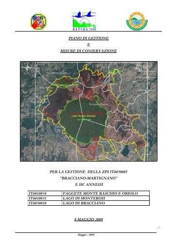 Piano di gestione - Provincia di Viterbo