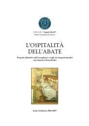 opuscolo L'OSPITALITÀ DELL'ABATE 04-2007.indd - IPSSAR Berti ...