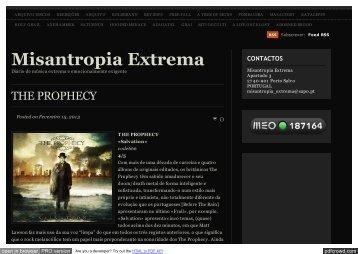 THE PROPHECY | Misantropia Extrema