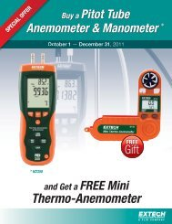 Buy Extech an HD350 Pitot Tube Anemometer ... - TestEquity
