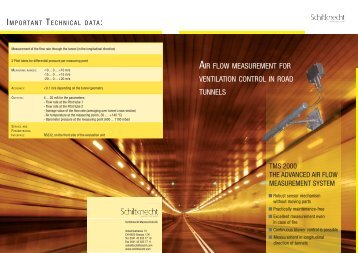 air flow measurement for ventilation control in road tunnels